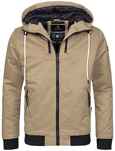 Navahoo Herren Winter Jacke sportliche Jacke wasserabweisend Winddicht B623 (Gr. S, Beige)
