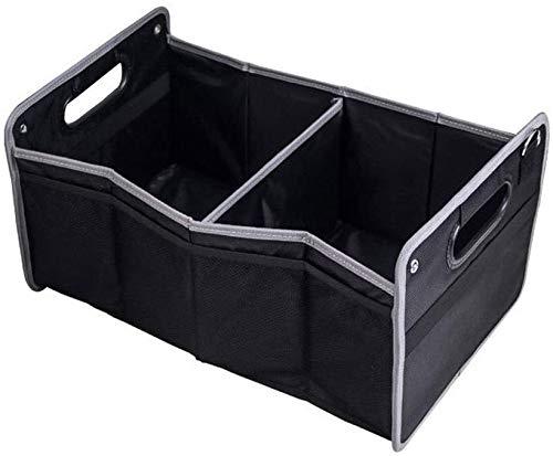 ZXCVB Zusammenklappbar Heavy Duty Auto-Aufladungs-saubere wasserdicht Speicher-Boot-Organizer Box mit 2 großen Fächern und Convenience Seitentaschen for Auto, SUV, Truck, Minivan