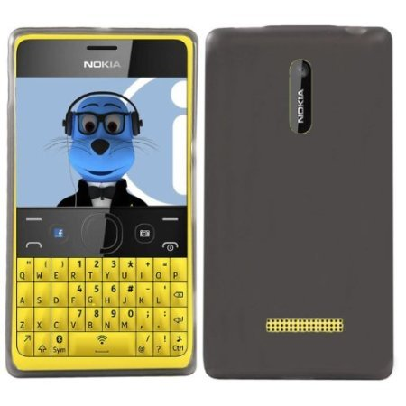 Bloutina iTALKonline - Custodia protettiva in gel super idro per Nokia Asha 210, colore: Nero