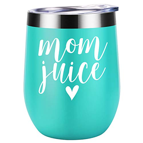 Gifts for Mom - Mom Juice - Funny Mom Gifts from Daughter, Son - Mom Birthday Gifts - Christmas Gifts for Mom Friends, Any Mom, Mom to be, New Mom, Pregnant Mom - Coolife 12oz Wine Tumbler Mom Mug Cup