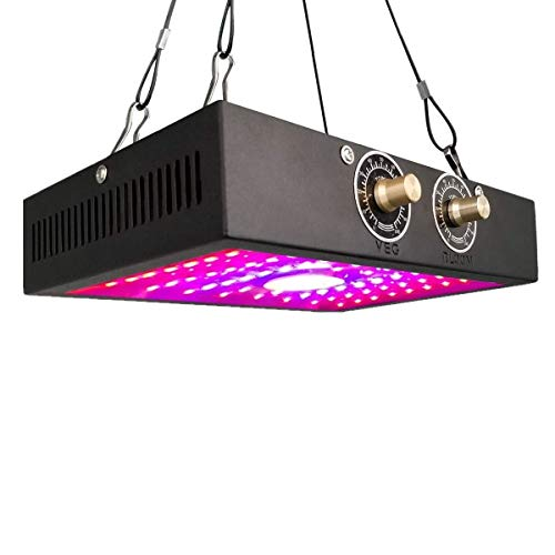 Grow Light for Indoor Plants - LED 1200W COB , Ajustable Full Spectrum Double Switch Plant Light Growing Lamps for Veg & Bloom(Dual-Chip 10W LED Light)