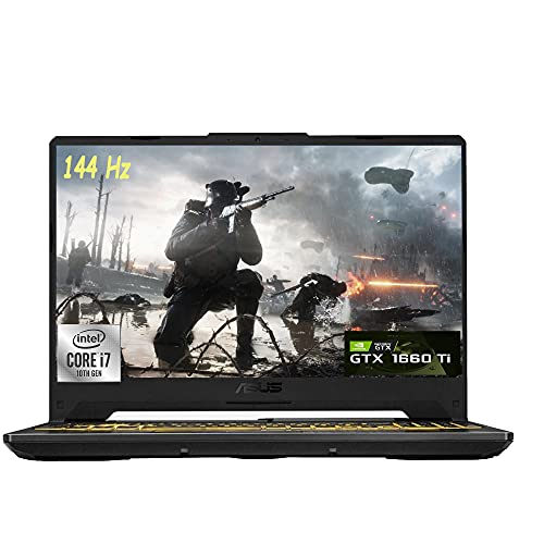 "2021 Flagship Asus TUF F15 Gaming Laptop 15.6"" FHD 144Hz Display 10th Gen Intel Octa-Core i7-10870H 16GB RAM 1TB SSD NVIDIA GeForce GTX 1660 Ti 6GB RGB Backlit DTS Webcam Win10"