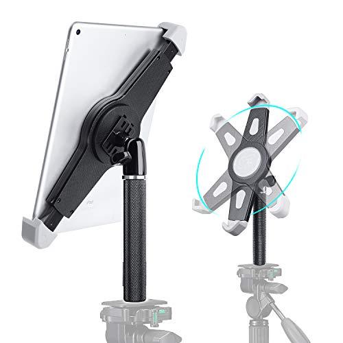"Elitehood IPad Tripod Mount Adapter, 360° Rotatable IPad Holder for Tripod, Tablet Tripod Mount for iPad Pro, iPad Air, iPad and All 9.5-14.5"" Tablets, for Tripod, Monopod, Tabletop Tripod Stand Etc"