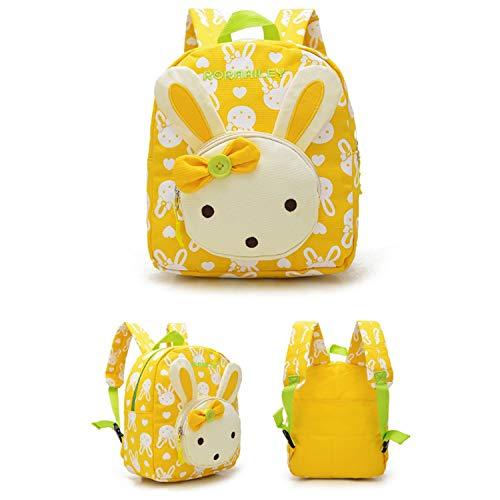 WFBD-CN Brieftasche Men Kaninchen Tiere Kinder Buch Rucksack BabySchool Bag Kleinkind Rucksack Portemonnaie Geldklammer (Color : Yellow, Size : M)