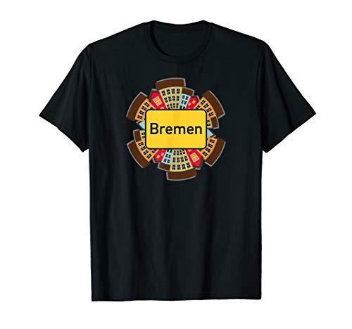 """Ortsschild \""""Bremen\"""" - Lustiges Stadt-Design T-Shirt"""