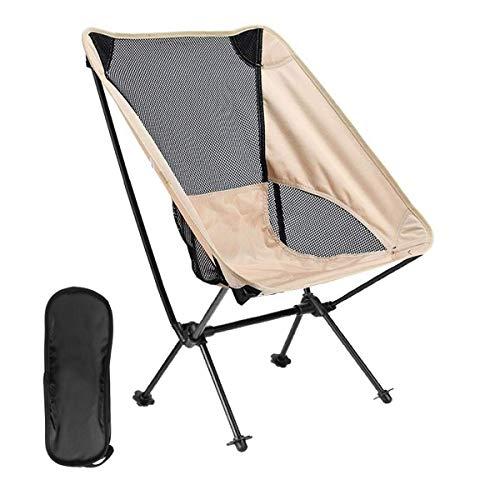seiyishi アウトドアチェア いす レジャーチェア キャンプ椅子 組み立て式チェア コンパクトチェア キャンプ用品 ポータブル 折りたたみ 椅子 ポータブル 持ち運び 軽量 丈夫 安定 (ベージュ2個セット)