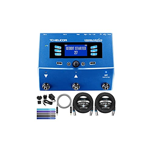 TC Helicon VoiceLive Play Vocal Effects Pedal Bundle with 12V 400mA DC...