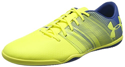 Under Armour UA Spotlight In, Zapatillas de Fútbol Hombre, Amarillo (Tokyo Lemon), 42 EU