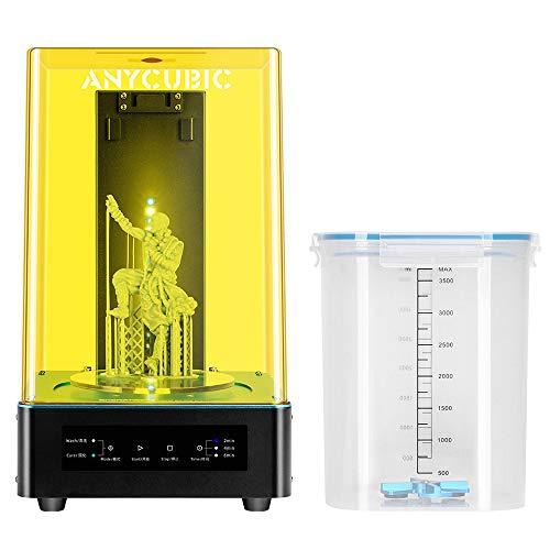 ANYCUBIC Wash & Cure Polimerizzatore per asciugatura e lavaggio stampe 3D con LED UV per la polimerizzazione con funzione di lavaggio. Idoneo per stampanti LCD/DLP 3D (405nm / 356nm)