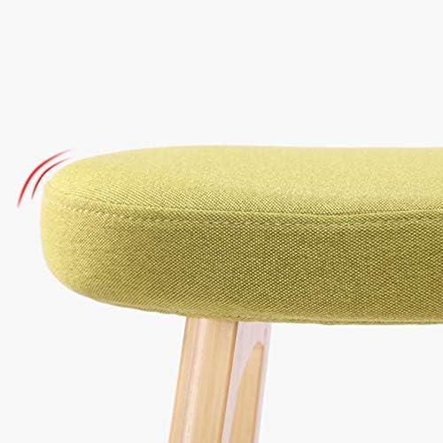 LAOMAO Tabouret De Bar, Personnalité Minimaliste Moderne Bar Chaise Maison en Bois Massif Tabourets Hauts Chaise De Loisirs Coussin en Tissu Assis Hauteur 79cm (Couleur : F) D