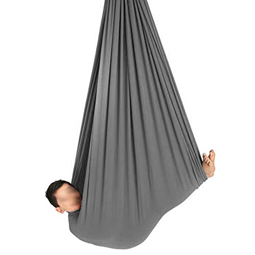 YXYH Indoor Therapy Swing Has Calming Effect Kids with Special Needs Exercises Improve Flexibility Core Strength Extension Straps (Color : Gray, Size : 150x280cm)