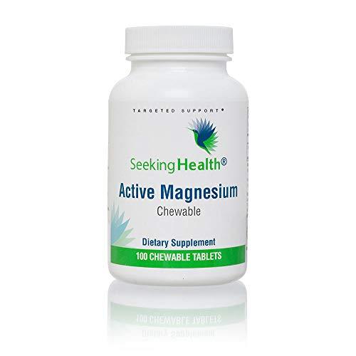 Seeking Health Active Magnesium Chewable | 100 Magnesium Chewable Tablets | Chewable Magnesium Supplements