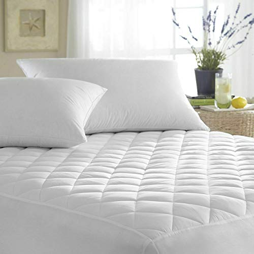 IMFAA Quilted Mattress Protector, Fitted Bed Cover Extra Deep (Double-40Cm Deep)