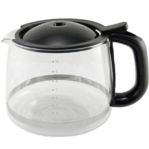 KRUPS Glass Carafe for KRUPS Combi Machines, 10-Cup, Black