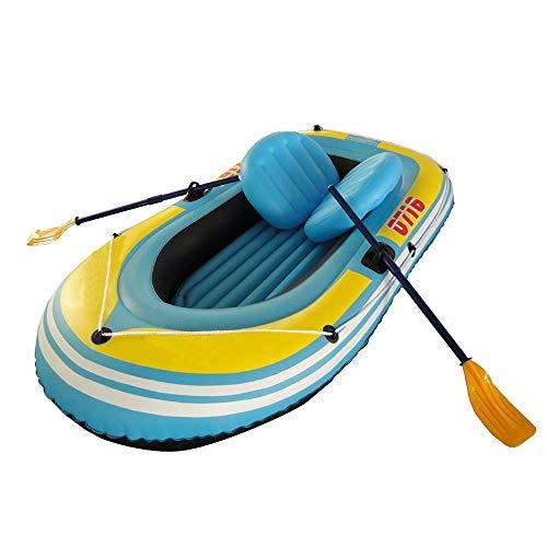 Kayak Inflable Kayak Deportivo Inflable Cómodo Kayak Ocio Barco Plegable 1-2 Personas Bote Deportes náuticos Pesca Deportiva Aventura Plástico PVC 230 * 130 cm Azul Aluminio Paleta
