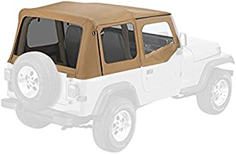 Pavement Ends by Bestop 51132-37 Spice Replay Replacement Soft Top Tinted Windows w/Upper Door Skins for 1988-1995 Jeep Wrangler