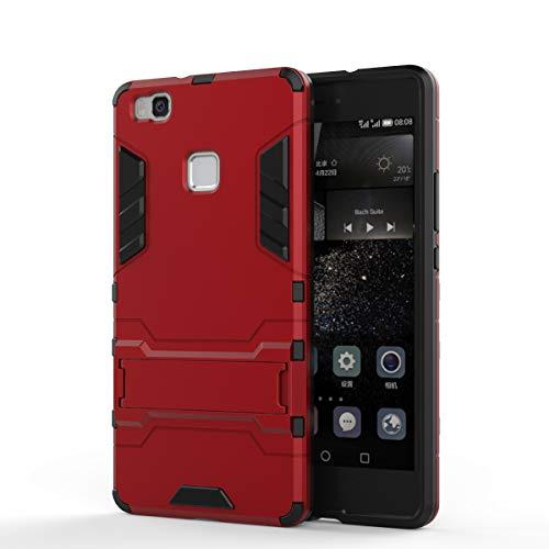 Cocomii Iron Man Armor Huawei P9 lite/Honor 8 Smart Case, Slim Thin Matte Vertical & Horizontal Kickstand Reinforced Drop Protection Bumper Cover Compatible with Huawei P9 lite/Honor 8 Smart (Red)