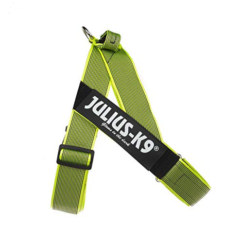 Julius-K9 IDC Color & Gray Belt Harness for Dogs, Size One, Neon-Gray
