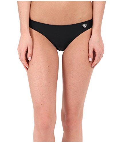 Body Glove Women's Basic Solid Fuller Coverage Bikini Bottom Swimsuit, Smoothies Black, X-Small