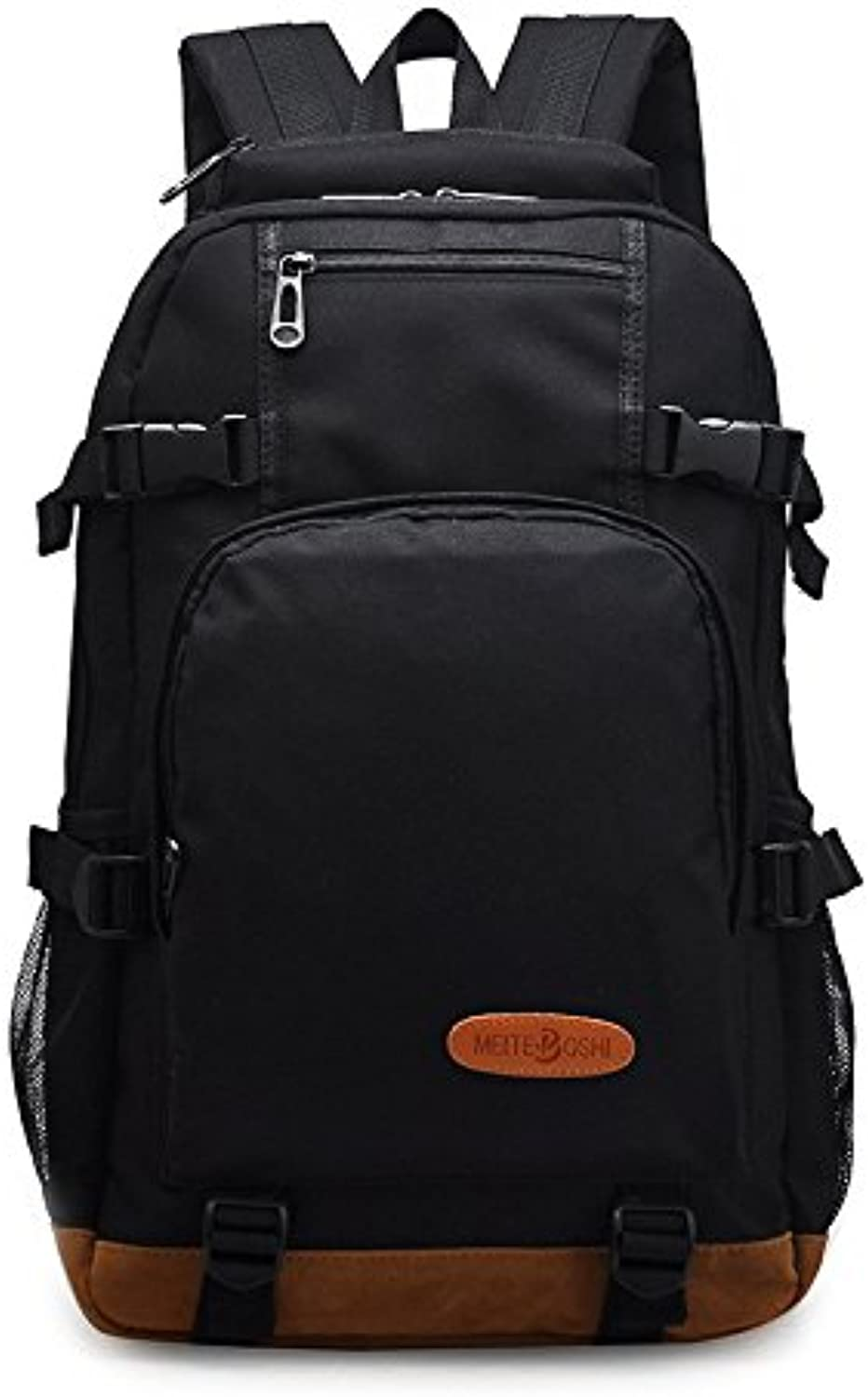 The Original Single Shoulder Bag Men and Women Bag Oxford Cloth Korean Version of The School to Send a Backpack Bag Computer Bag 29cm13cm46cm, Black