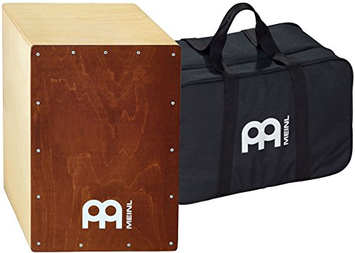 Meinl Percussion Cajon Box Drum with Internal Snares and Free Bag-Made in Europe-Baltic Wood Full Size, 2-Year Warranty, Natural Birch Body/Brown (BC1NTBR)