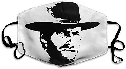 Decoración facial unisex para protección facial, antipolvo, rubio, clint Eastwood, ajustable, decoración facial One_color. Talla única