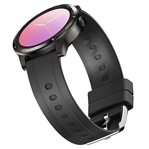 Smartwatch, Reloj Inteligente Impermeable IP68 Pulsera Actividad Hombre Mujer, Inteligente Reloj Deportivo Reloj Fitness con Pantalla Táctil Completa Pulsómetro Cronómetros per iOS Android,Negro