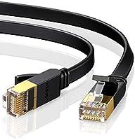 UGREEN Cat7 Ethernet Kabel Platte Vergulde RJ45 Netwerkkabel 10Gbps 600MHz Lan RJ45 FTP 8P8C Kabel Compatibel met Cat6...