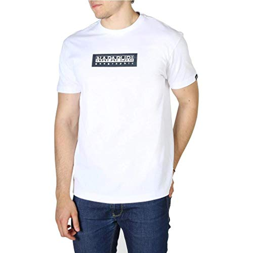 NAPAPIJRI T-Shirt Uomo cod.NP0A4EG9 Bright white SIZE:L