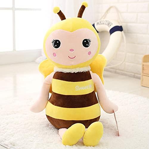 Pequeña abeja muñeca almohada princesa cama dormir bebé muñeca peluche juguetes-amarillo_40 cm pequeño