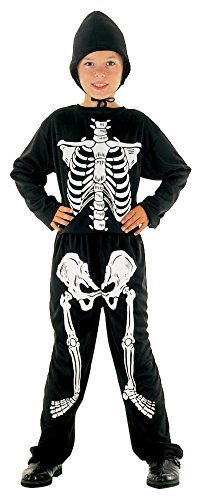 Bristol Novelty skelet jumpsuit zwart 8 - 10 Jahre wit