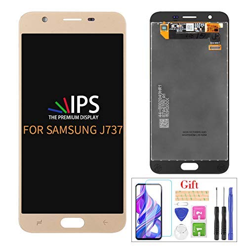 JOEMEL Screen Replacement for Samsung Galaxy J7 2018 J737 SM-J737 J737A J737P J737V J737T Touch Screen Digitizer LCD Display Assembly Repair Kits,with Screen Protector+Tools (Gold)