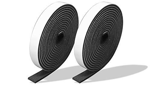 プランプ オリジナル 隙間テープ スキマッチ 黒 ブラック 厚 2 mm × 幅 10 mm × 長さ 2m 2個入 日本製 ゴムスポンジ 防水 防音 すきま 窓 玄関 引き戸 隙間