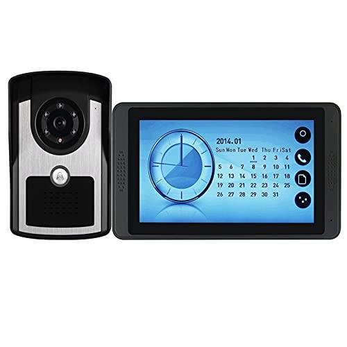 Timbre De Video, Intercomunicador, Sistema De Entrada De Puerta, Monitor De Pantalla Táctil De 7 Pulgadas Con Cable, Videoportero, Cámara De Visión Nocturna Por Infrarrojos + Pantalla