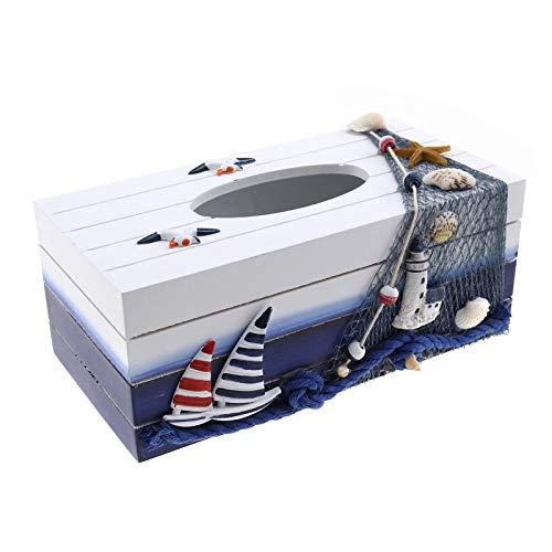 SING F LTD Rectangular Facial Tissue Box Cover Napkin Holder Paper Towel Dispenser Container for Home Office Car Decor Seagull