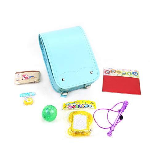 ミニ ランドセル おもちゃ 付き なりきり 入園 卒園 プレゼントにぴったり (ターコイズブルー)