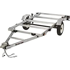Rustproof aluminum frame Folds to 72 5/8in.L for convenient storage Large 4ft. x 8ft. bed 1,170-lb. payload capacity 1,400-lb. max. GVWR