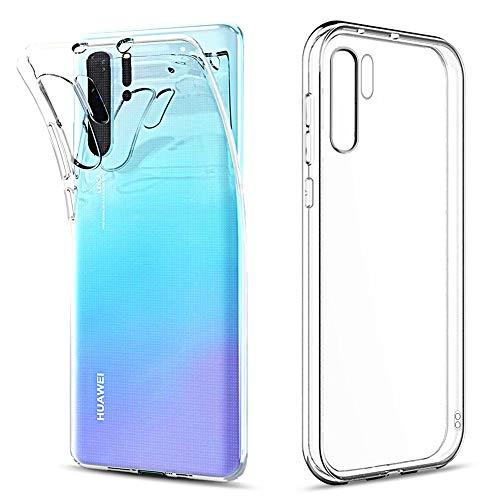 Amonke Funda para Huawei P30 Pro, Silicona Transparente TPU Protectora Carcasa Antigolpes, Anti Caídas Ultrarock Ultrafina Suave Case Cover Compatible con Huawei P30 Pro 6.47