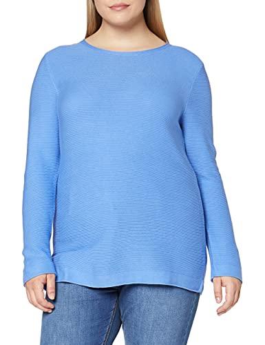 TOM TAILOR Damen Struktur Strickpullover Sweatshirt, 11139-Soft Charming Blue, 3XL