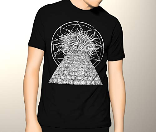 Gothic Occult, All-Seeing Eye, Illuminati Pyramid, Premium Men's Graphic T-shirt
