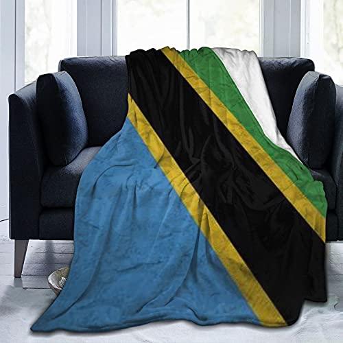 Leichte Fleece-Decke mit Tansania-Flagge, für Zuhause, Reisen, Couch, Sofa, 3 Größen