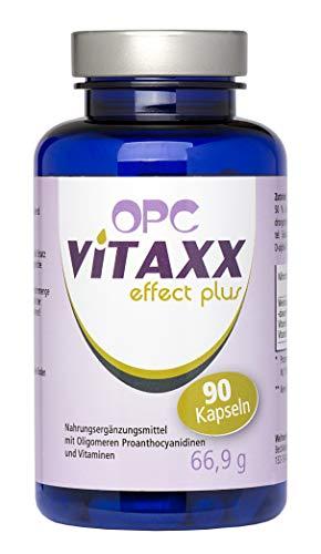 VITAXX | OPC Traubenkernextrakt Kapseln | 795mg Tagesdosis 3 Kapseln | 100% vegan | ohne unerwünschte Zusatzstoffe | hochwirksam | Made in Germany | Hautprobleme, Blutgefäß Probleme (90 Pillen)