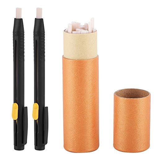 HEEPDD kleermakerskrijt, 2 stuks. schelpen en 20 wax-navulverpakking auto verdwijnt leer doek marker verdwijnen pennen voor kleermakerswerk naaien kunsthandwerk