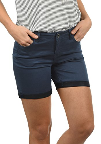 DESIRES DESIRES Lila Damen Jeans Shorts Kurze Denim Hose Aus Stretch-Material Skinny Fit, Größe:34, Farbe:Insignia Blue (1991)