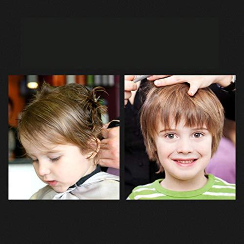 QPIRRJ散髪ヘアカットハサミすきばさみセットシザーハサミプロ初心者美容師理容師セルフカットカットはさみ専用ケース付クリップピン付調節ネジ小指かけ節約自宅でカット可能子ども用ヘアカット4点セット(A)
