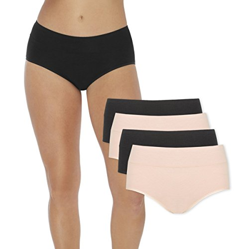 Women's Period Panties – Soft & Silky Bamboo Briefs – Menstrual Sanitary Underwear –...