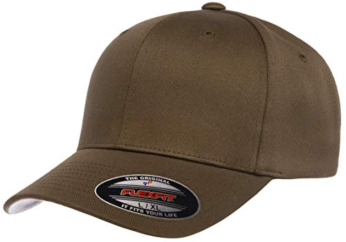 Flexfit Herren Men\'s Athletic Baseball Fitted Cap Verschluss, olivgrün, S/M