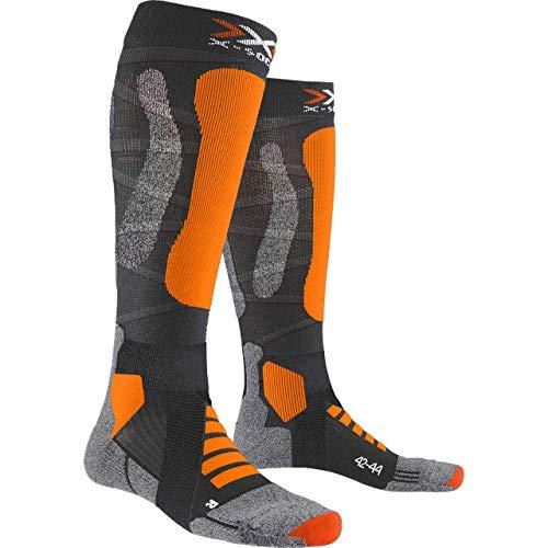 X-Socks Ski Touring Silver 4.0 Invierno Calcetines De Esquí, Hombre, Anthracite Melange/Orange Fluo, 39/41