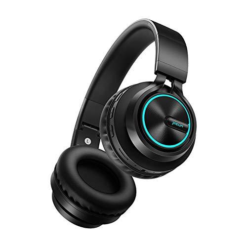 JSX Over-Ear Headset V5.0 met microfoon CVC6.0 Noise Cancelling koptelefoon, opvouwbaar/zacht geheugenproteïne-oorbeschermer/hifi-stereogeluid