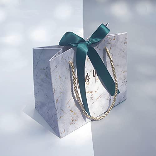 XIAOQIAO Nuevo Bolso de Regalo de mármol Gris Creativo para la Navidad/Boda/Baby Shower/Baby Shower favores favores Regalo Caja de envasado (Color : Green, Gift Box Size : 12pcs)
